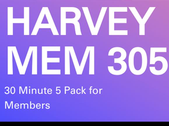 Harvey Memb. 5 pack 30 minute sessions