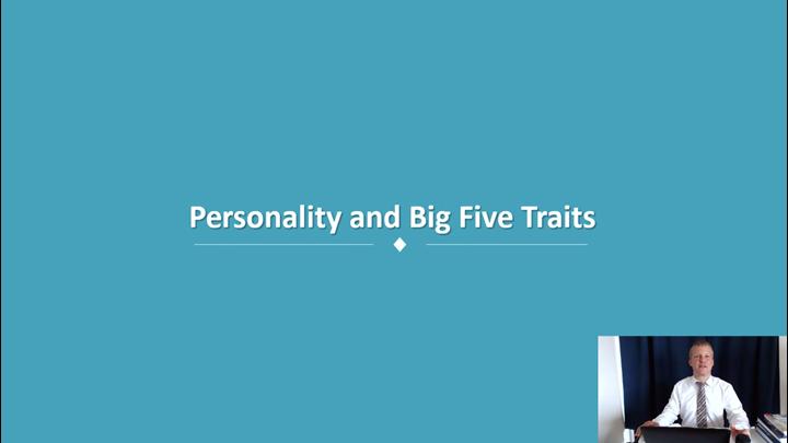 03/12 Developing Leadership Skills: Self-Awareness and The Big Five Personality Traits