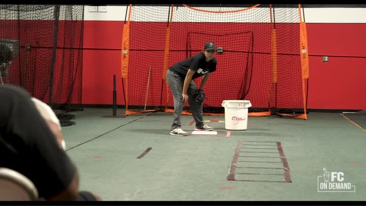 Indoor Infield Drills - Tagging Runners On The Base