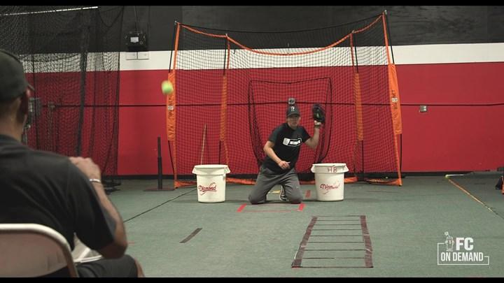 Indoor Infield Drills - Tennis Ball Drill