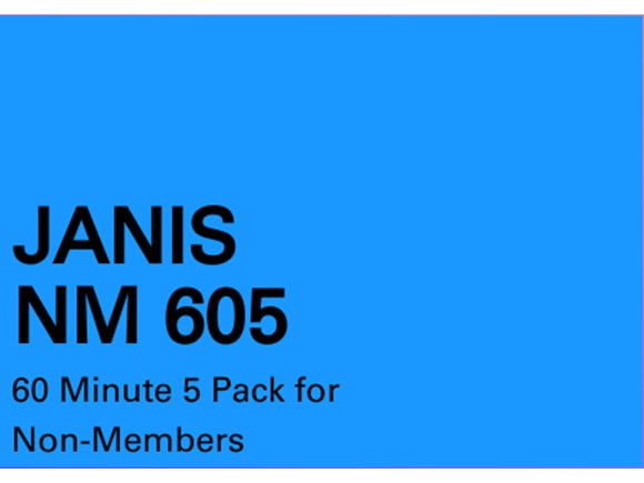 Janis NM 5 Pack 60 minute sessions