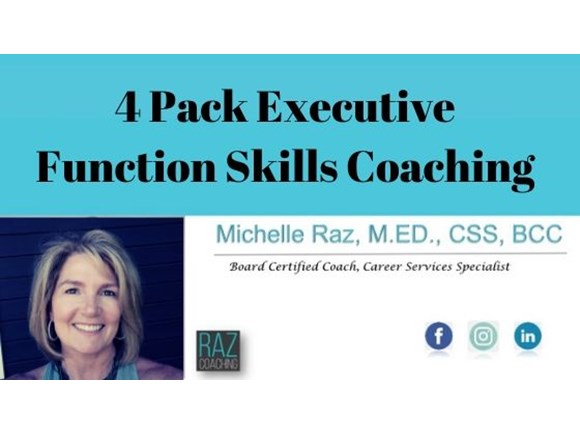 4 Pack Executive Function Skills Coaching
