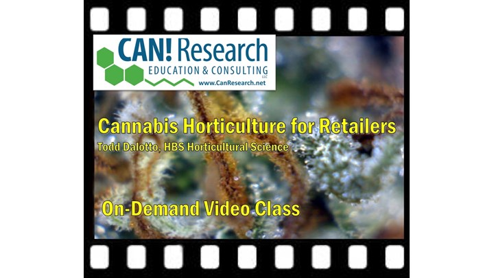 Cannabis Horticulture for Retailers class