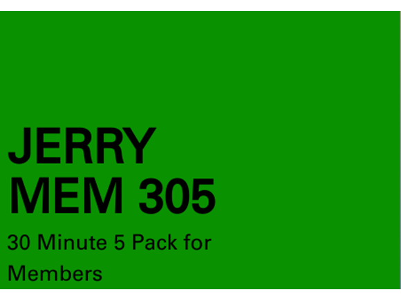 Jerry NM 5 pack 30 minute sessions