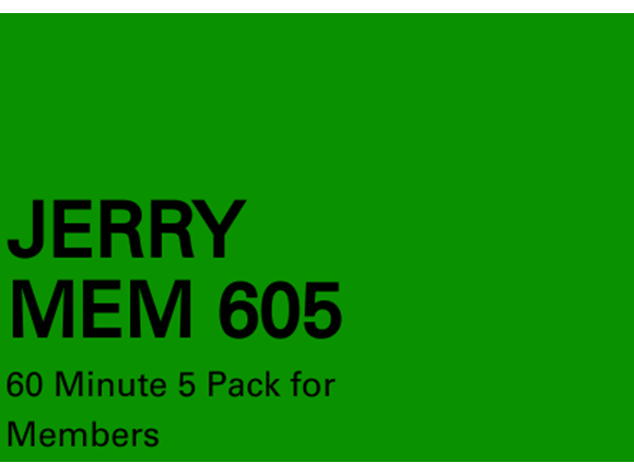Jerry Mem 5 Pack 60 minute sessions