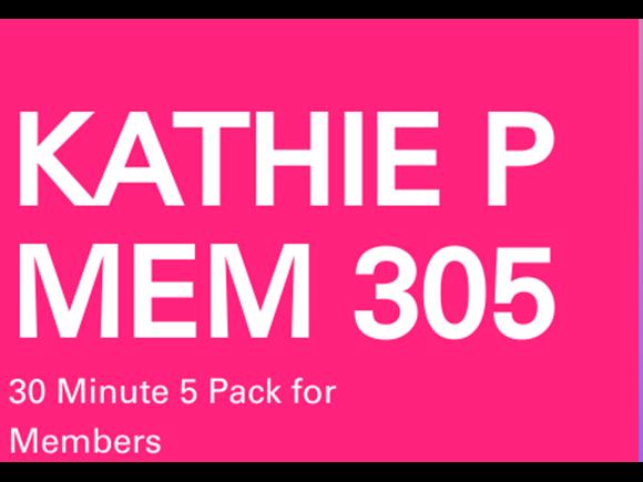 Kathie Memb. 5 Pack 30 minute sessions