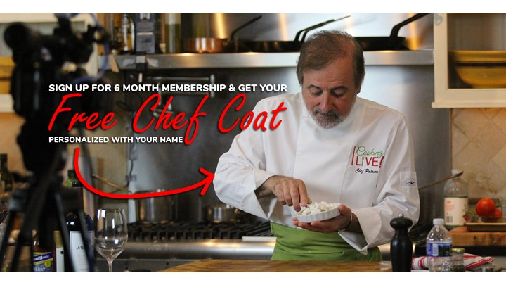 6 month membership GET A FREE CHEF JACKET with your name on it!