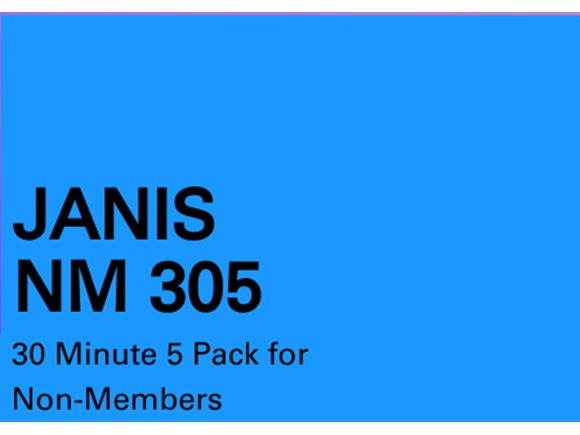 Janis NM 5 pack 30 minute sessions