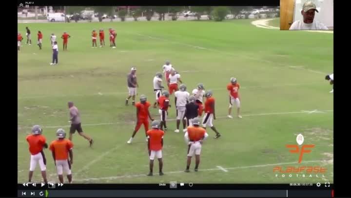 Spring Football Practice 2019: Half Line Drills.