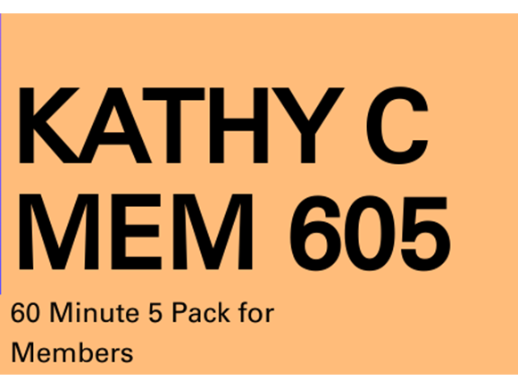 Kathy C Mem 5 Pack 60 Minute Sessions