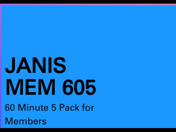 Janis Mem 5 Pack 60 minute sessions