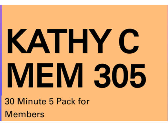 Kathy C Mem 5 Pack of 30 min PT Sessions