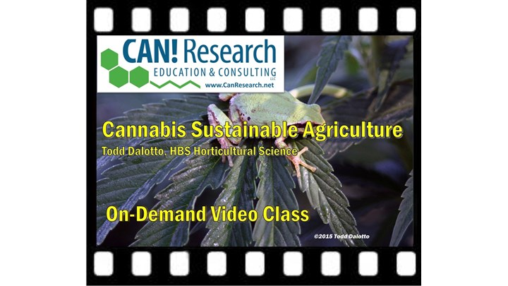 Cannabis Sustainable Agriculture Class