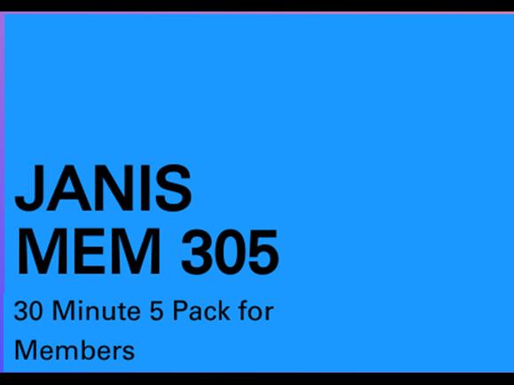 Janis Mem 5 pack 30 minute sessions