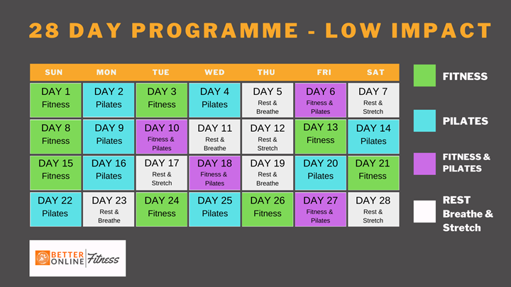 BETTER 28 DAY PROGRAMME - Low Impact