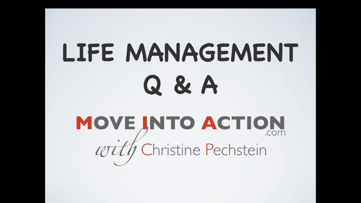 Life Management Q & A Video 2