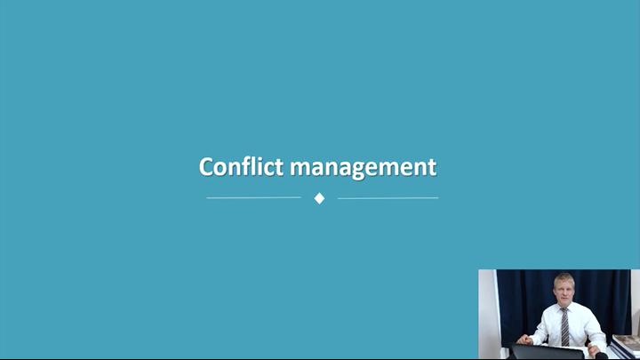08/12 Developing Leadership Skills: Conflict Management
