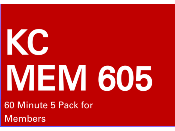 KC Mem 5 Pack 60 minute sessions