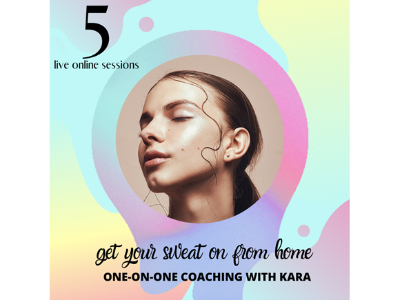 5 live online sessions with kara