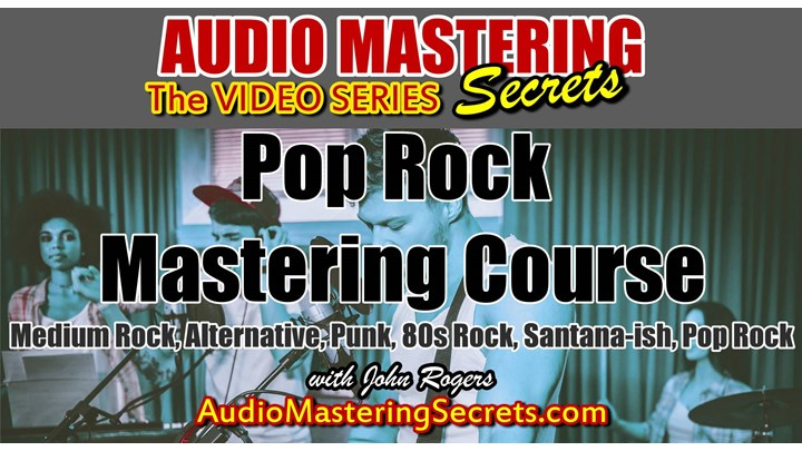 Best Pop Rock Mastering Course