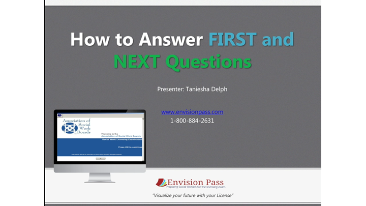 How to Answer First and Next Questions