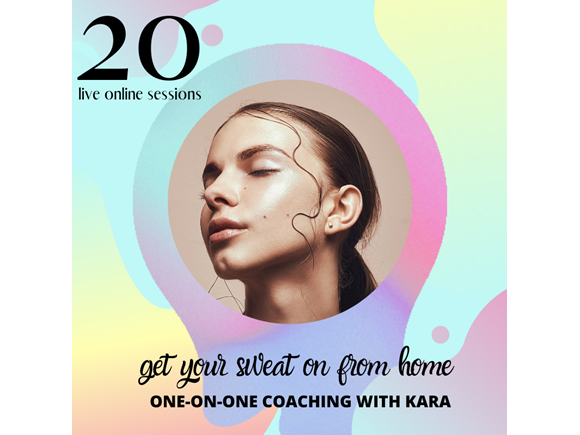20 live online sessions with Kara