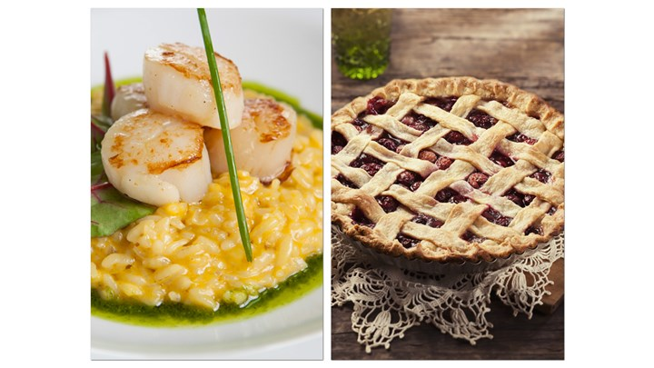 Pan Sear Sea Scallop with Eggplant Risotto - Fresh Cherries Pie