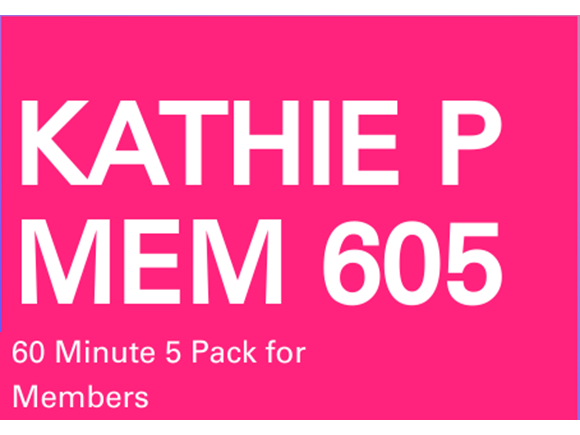 Kathie Memb. 5 Pack 60 minute sessions